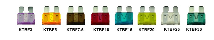 KT's Range of Standard Blade Fuses
