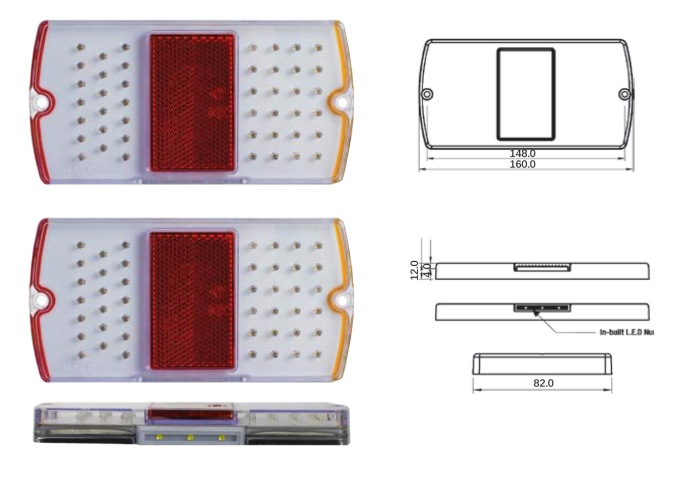 Kt Superior Led Trailer Lamps