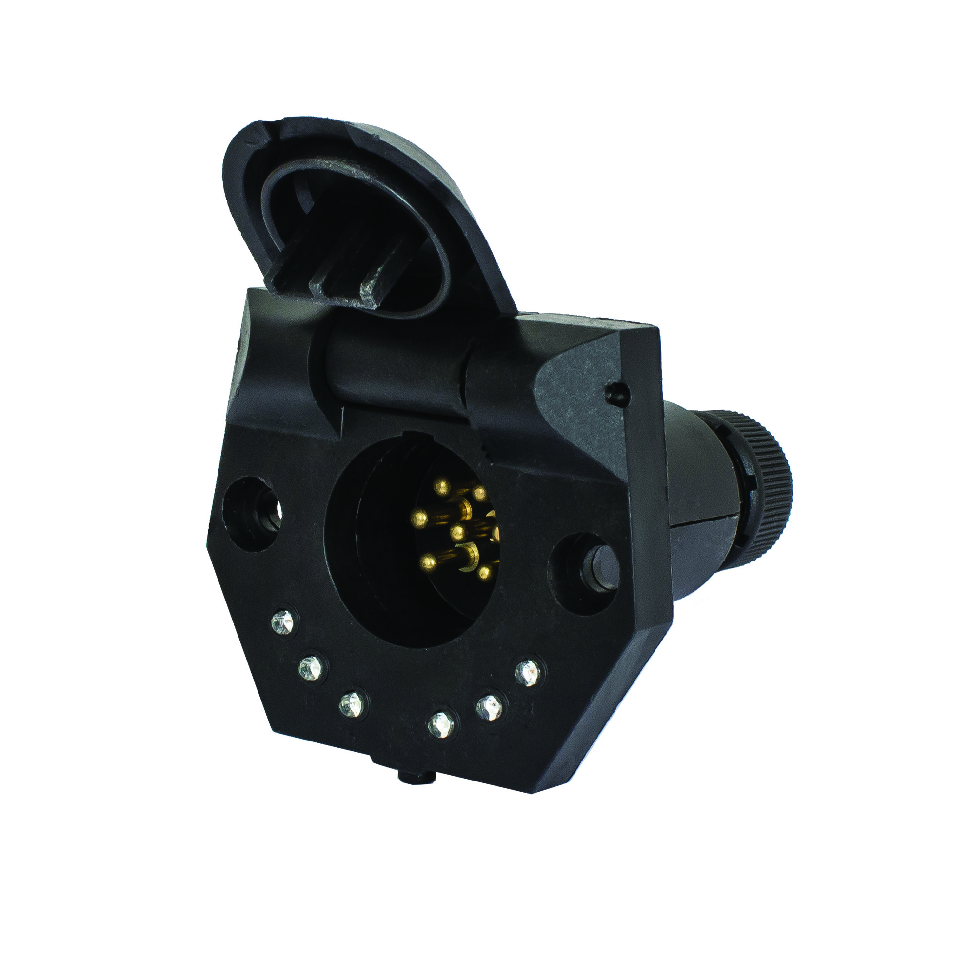 Kt Brackets For Securing Trailer Sockets To Prevent Dragging Cables Led Circuit Tester Suits Kt702 Small Round Socket With Inbuilt