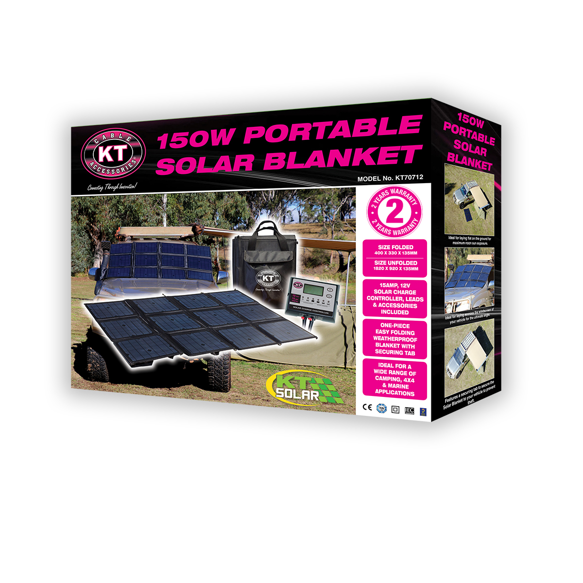 KT 150 Watt Portable Solar Blanket