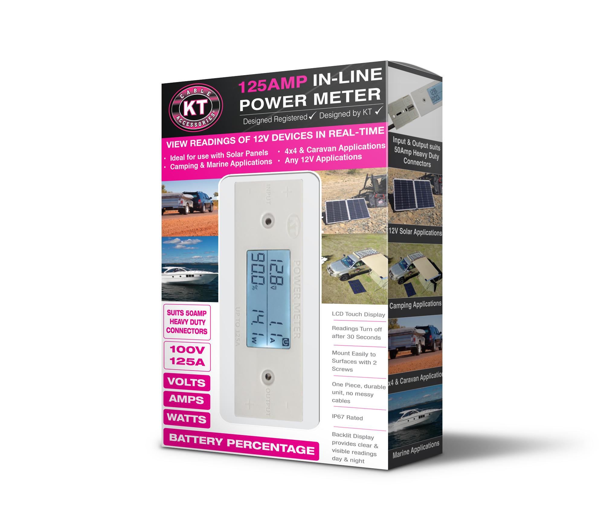 KT70752 - 125Amp, 100V In-Line Power Meter