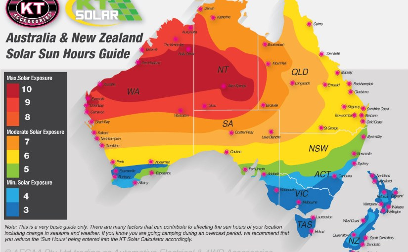 Solar Sun Hours Map – Understanding how to work out your sun hours based on your Location . . .